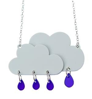 Rain Cloud Necklace  - Black Heart Creatives