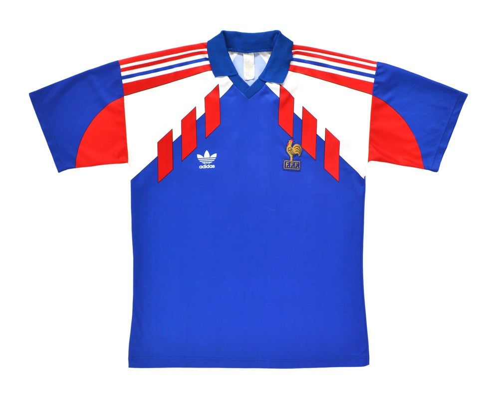 Image of 1990-92 Adidas France Home Shirt XL