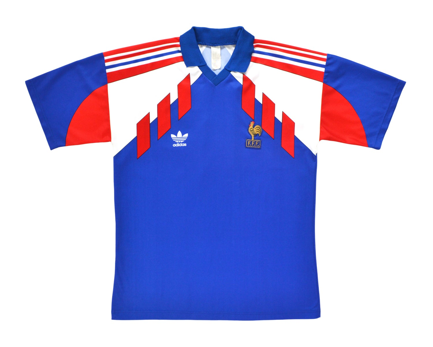 Image of 1990-92 Adidas France Home Shirt L