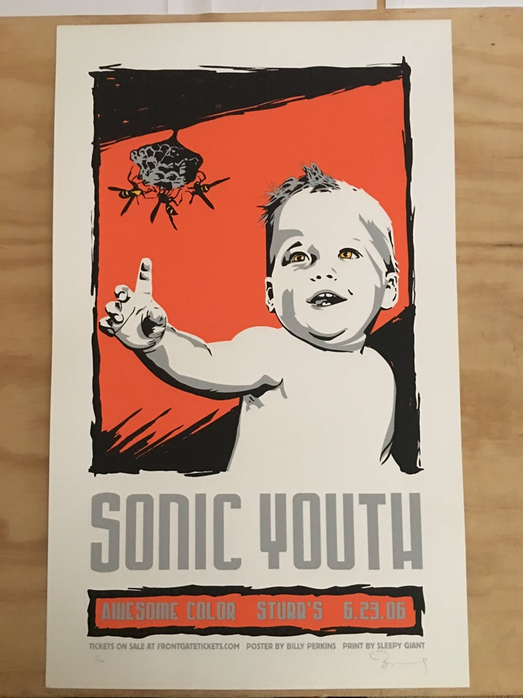 Image of Sonic Youth official gig poster, Austin 2006