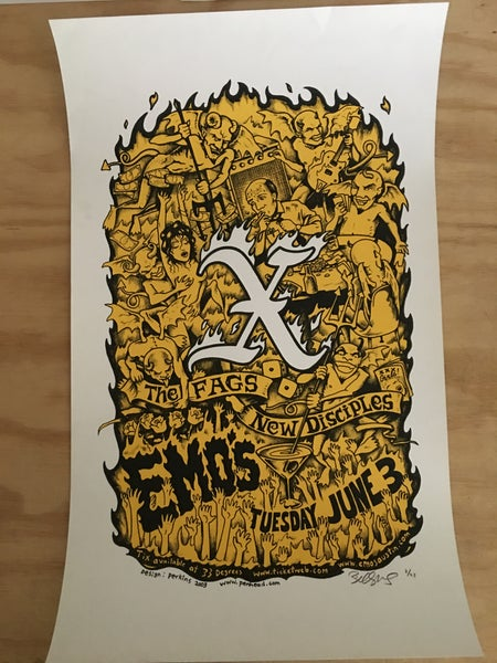 Image of X official gig poster, Austin 2003