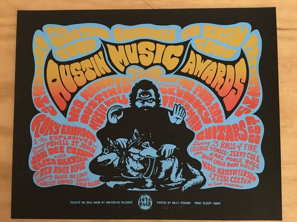 Image of Austin Music Awards feat. Roky Erickson, 2006 *SPLIT FOUNTAIN VARIANT