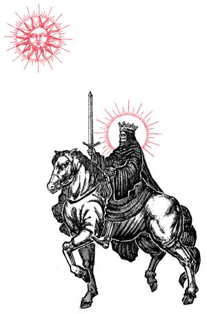 "Image of ""Knight of Swords"" 13""x19"" Art Print"