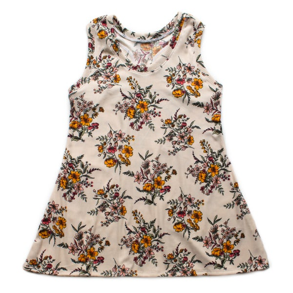Image of Mommy Mustard Floral Flowy Tank