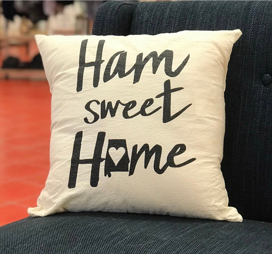 Image of Ham Sweet Home Pillow Cover (18x18)