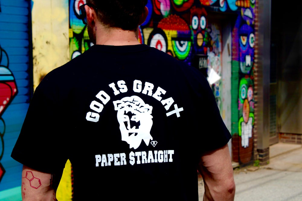 Image of Black GIGP$ Front Back Logo Tee