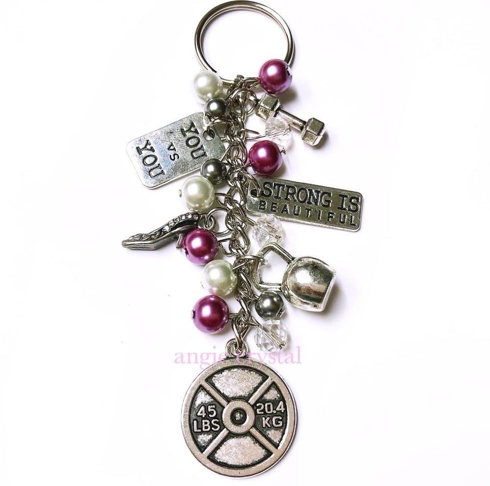 Image of Lavender Fitness Key Chain