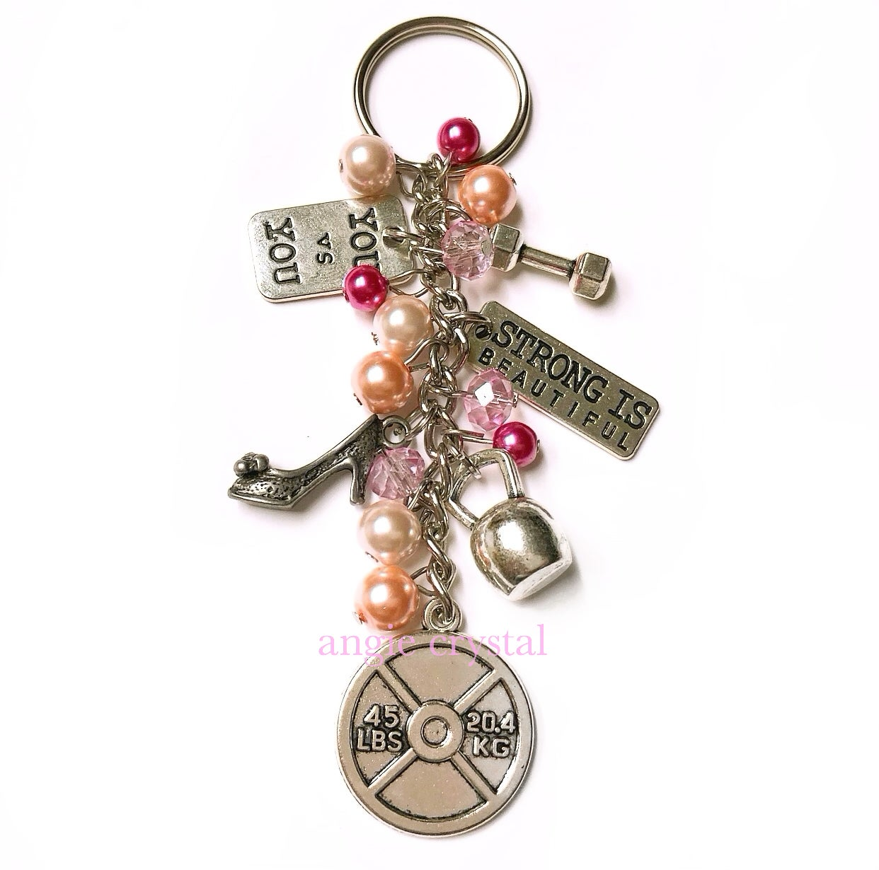 Image of Pink Fitness Keychain