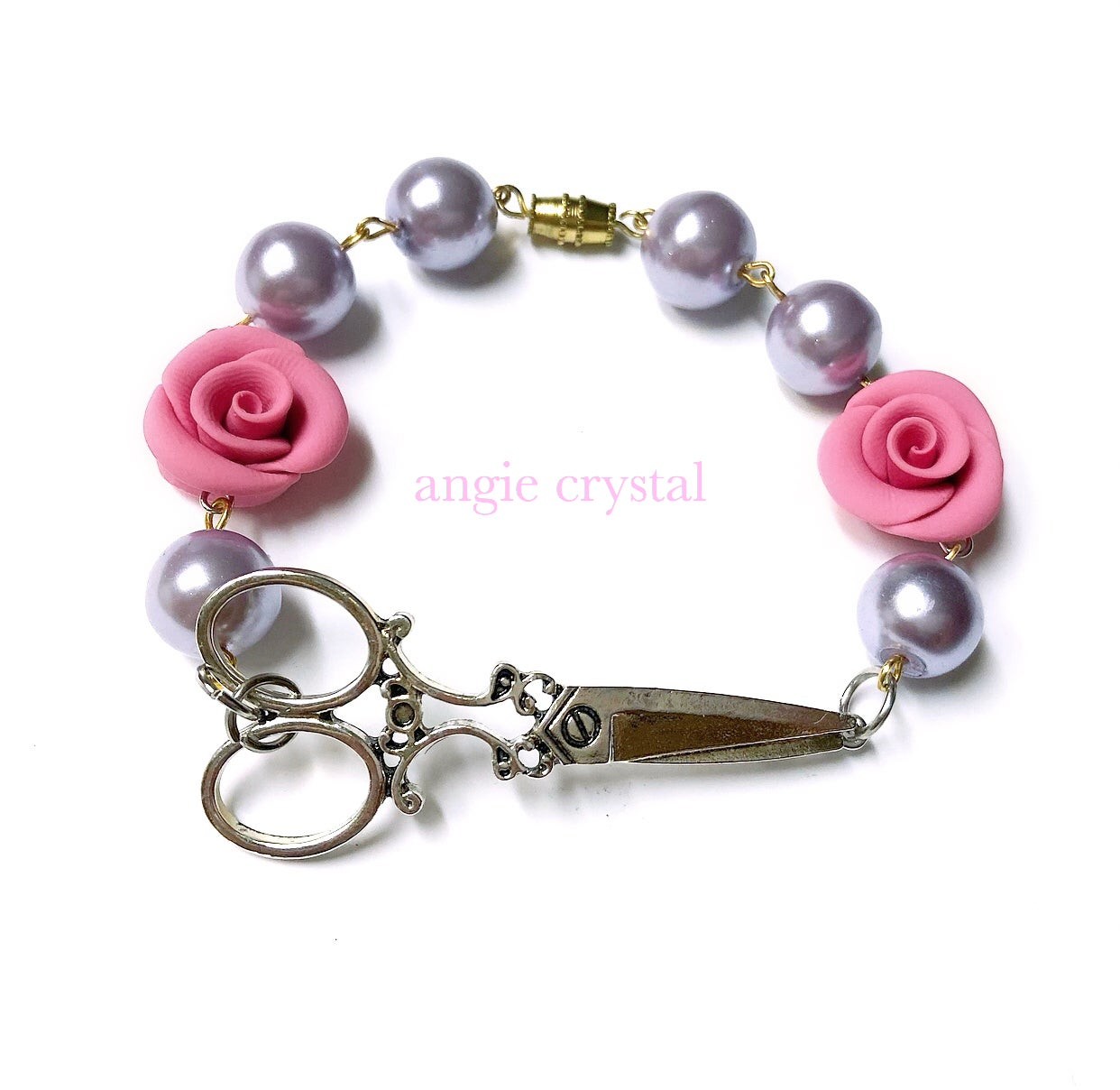 Image of Hair Stylist Bracelet In Dusty Rose