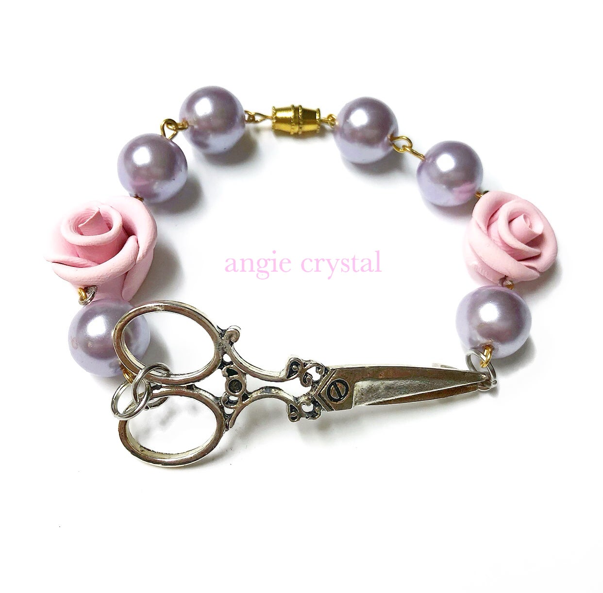 Image of Hair Stylist Bracelet In Baby Pink