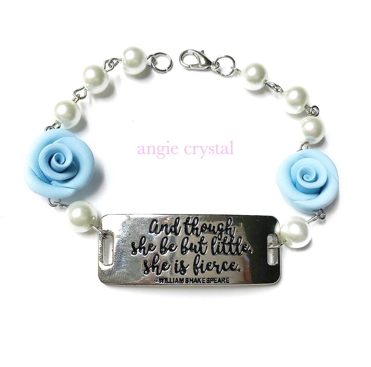 Image of And Though She Be But Little Blue Bracelet