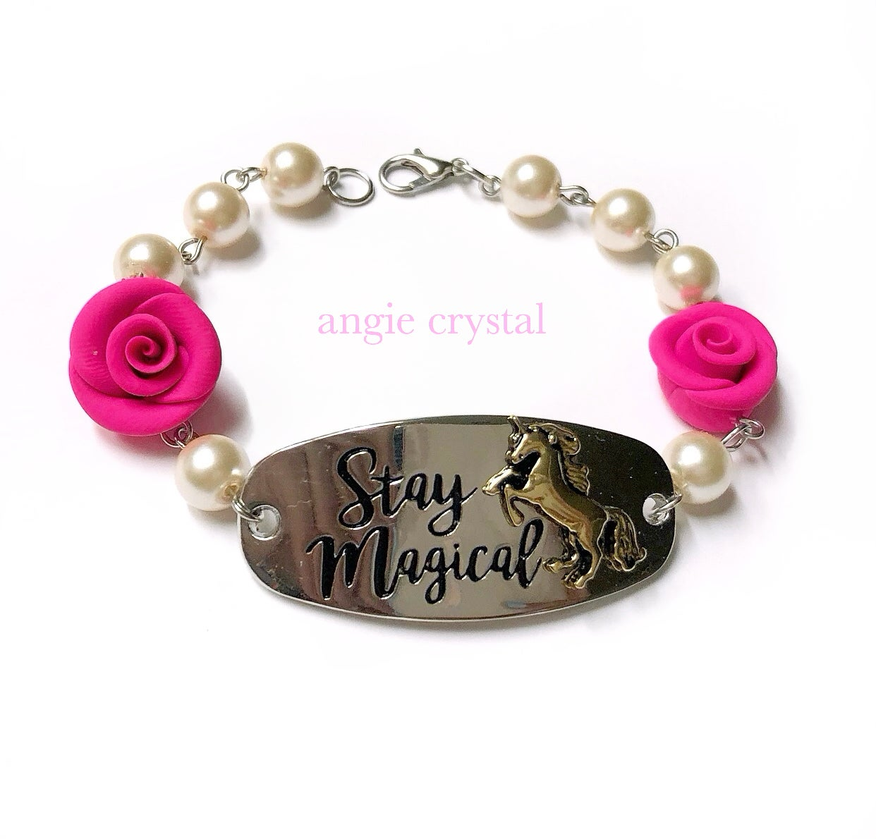 Image of Stay Magical Hot Pink Bracelet