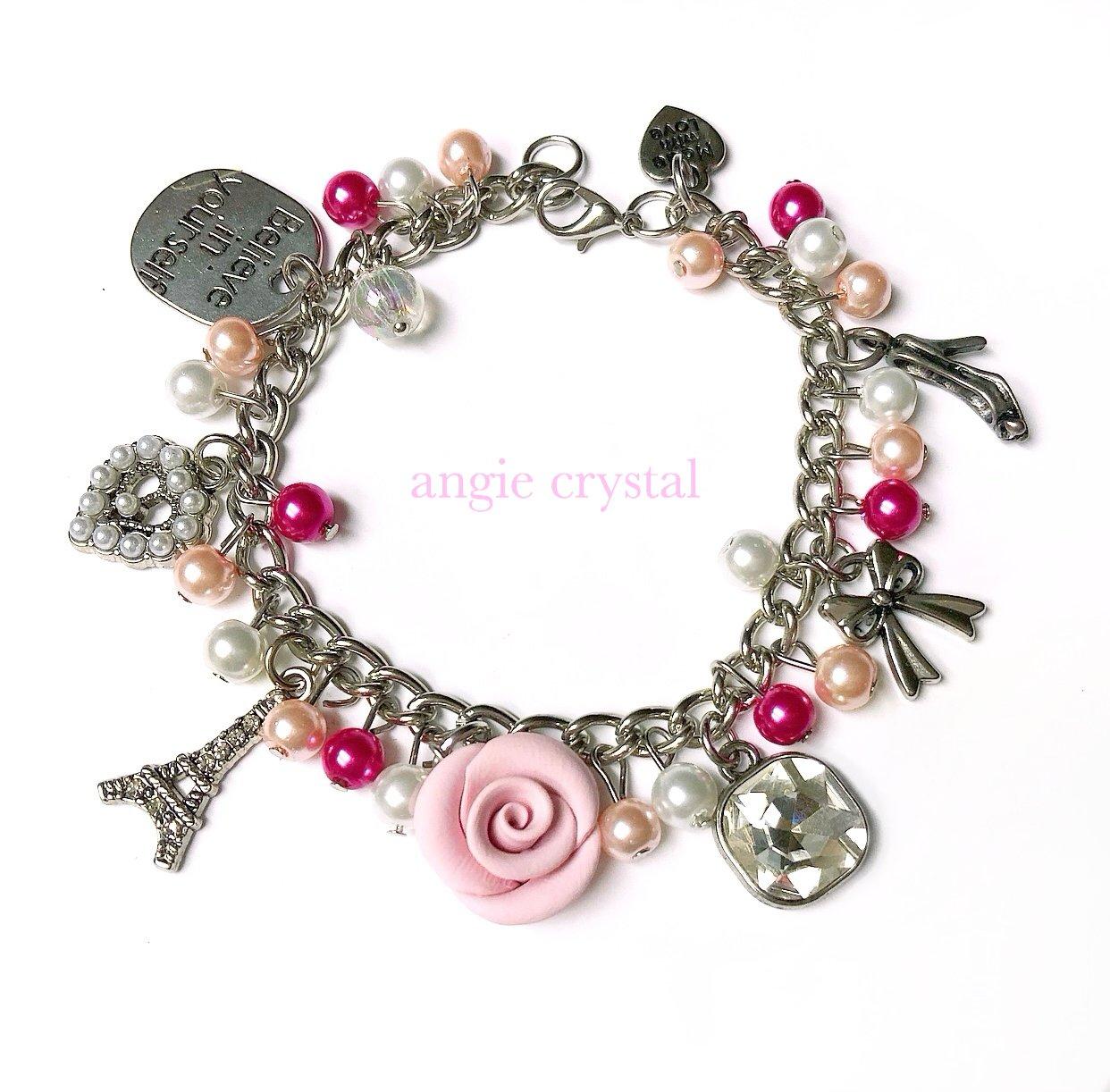 Image of Girly Pink Charm Bracelet