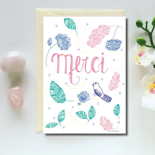 Image of Greeting Card *Merci*