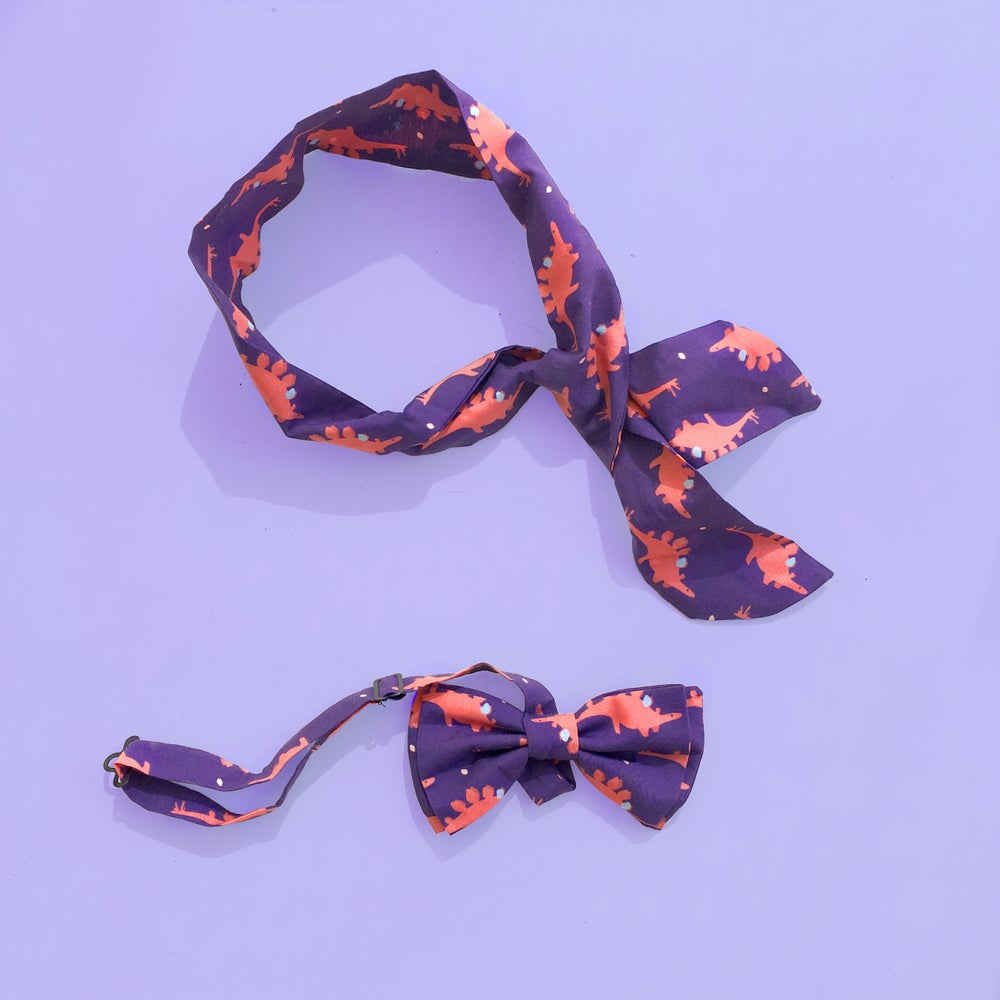 Image of STEGOSAURIO bowtie and scarf