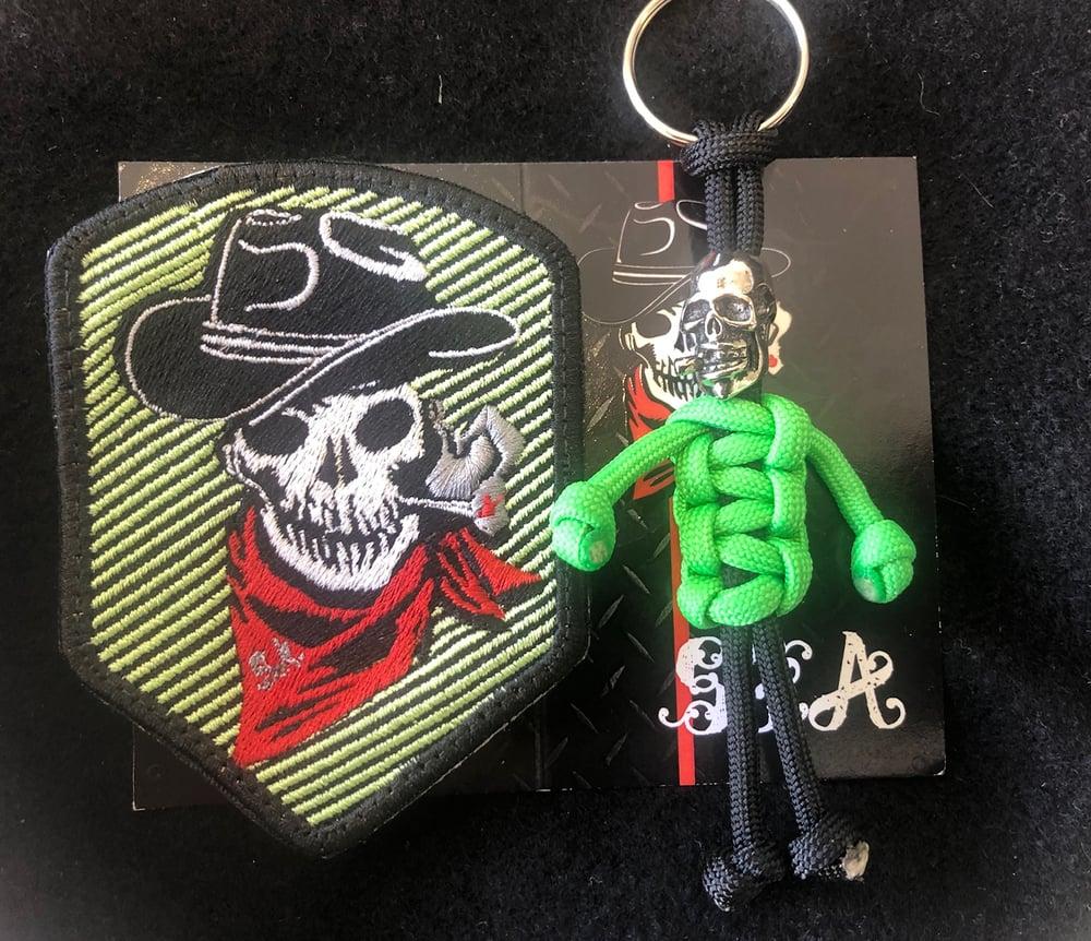 Image of SGA Green zombie et porte clef paracorde zombie limité 25ex