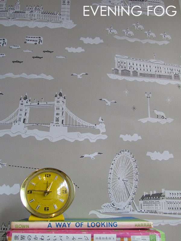 Image of WISH YOU WERE HERE IN LONDON WALLPAPER- SAMPLE SALE!