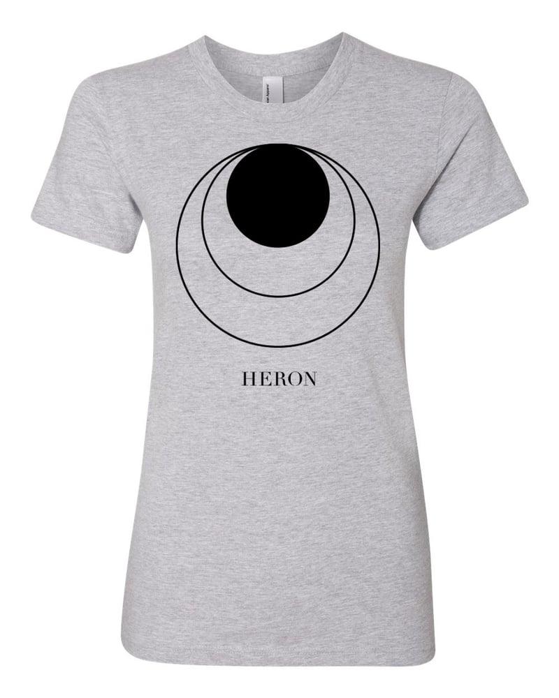Image of HERON - Women's T-Shirt (Grey) - Sun Release Circles