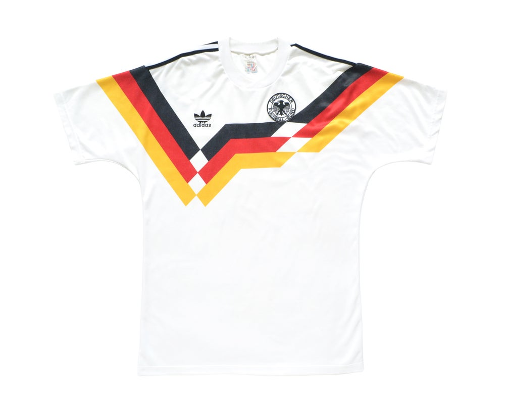 Image of 1988-90 Adidas West Germany Home Shirt M