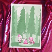 """Image of """"Nighttime"""" - A3 Riso print featuring the Littlest Friends"""