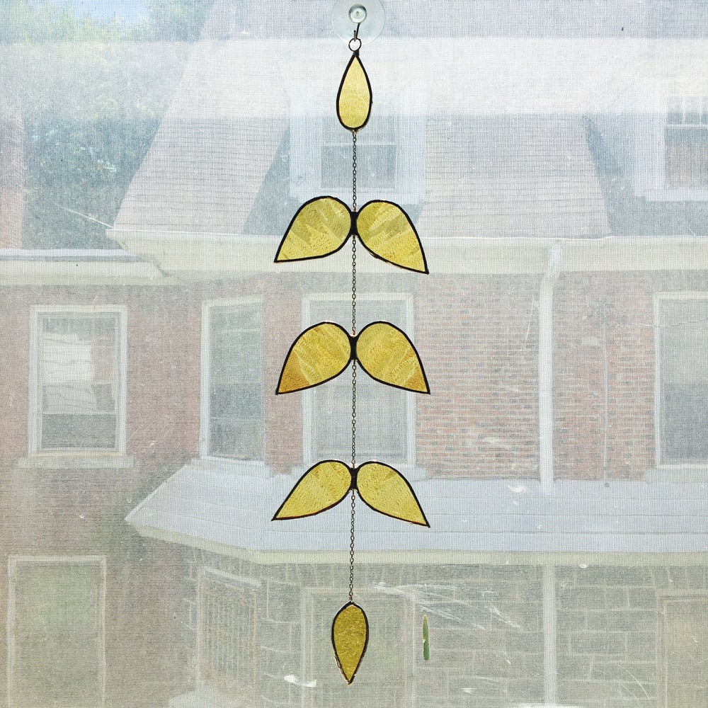 Image of Laurel Suncatcher in Colored Glass