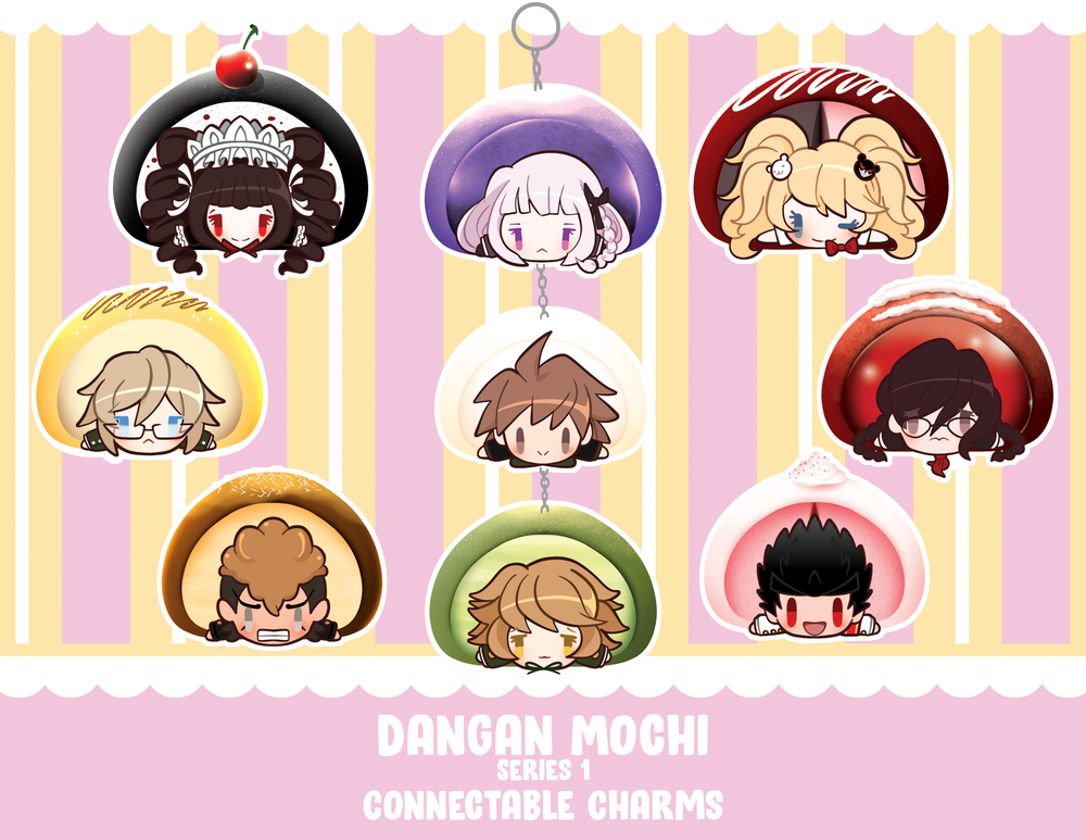 """Image of Danganronpa: Dangan MOCHI Connectable approx. 2"""" Double-Sided Charms"""