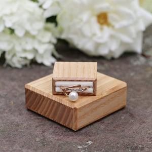 Image of Slim engagement ring box  - ash wood