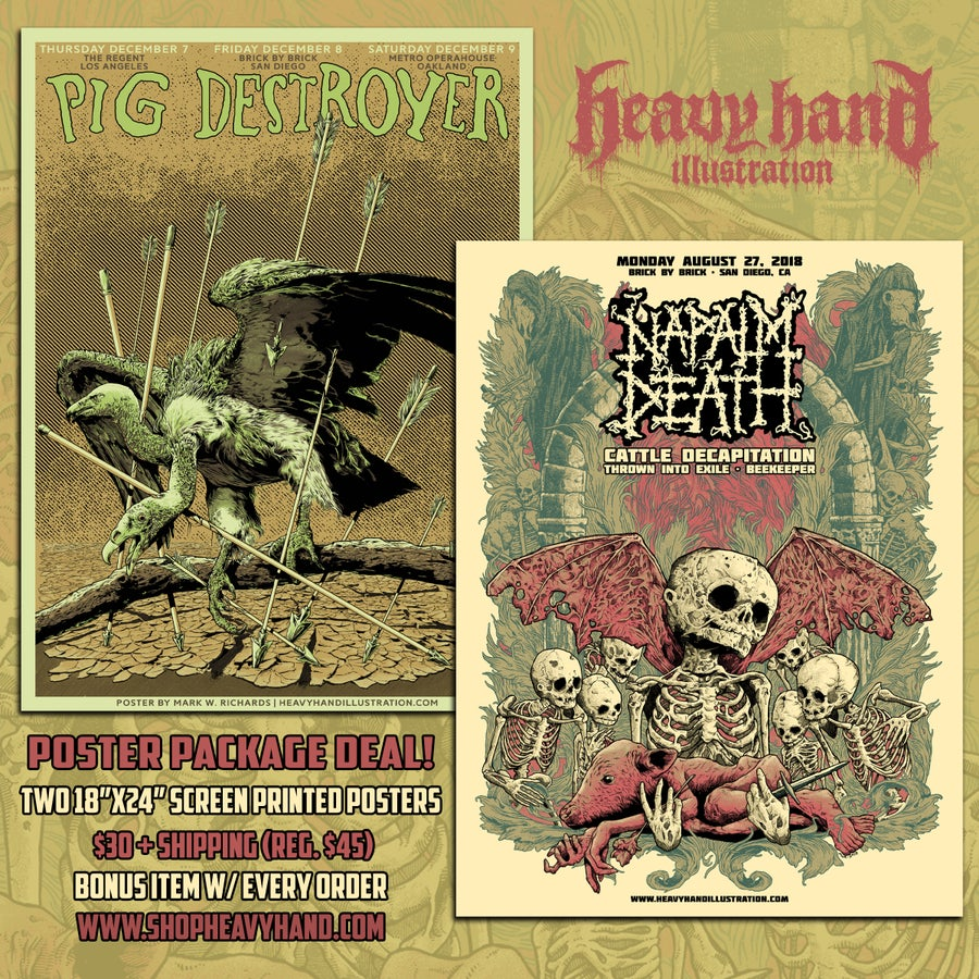 Image of Pig Destroyer/Napalm Death Poster Package