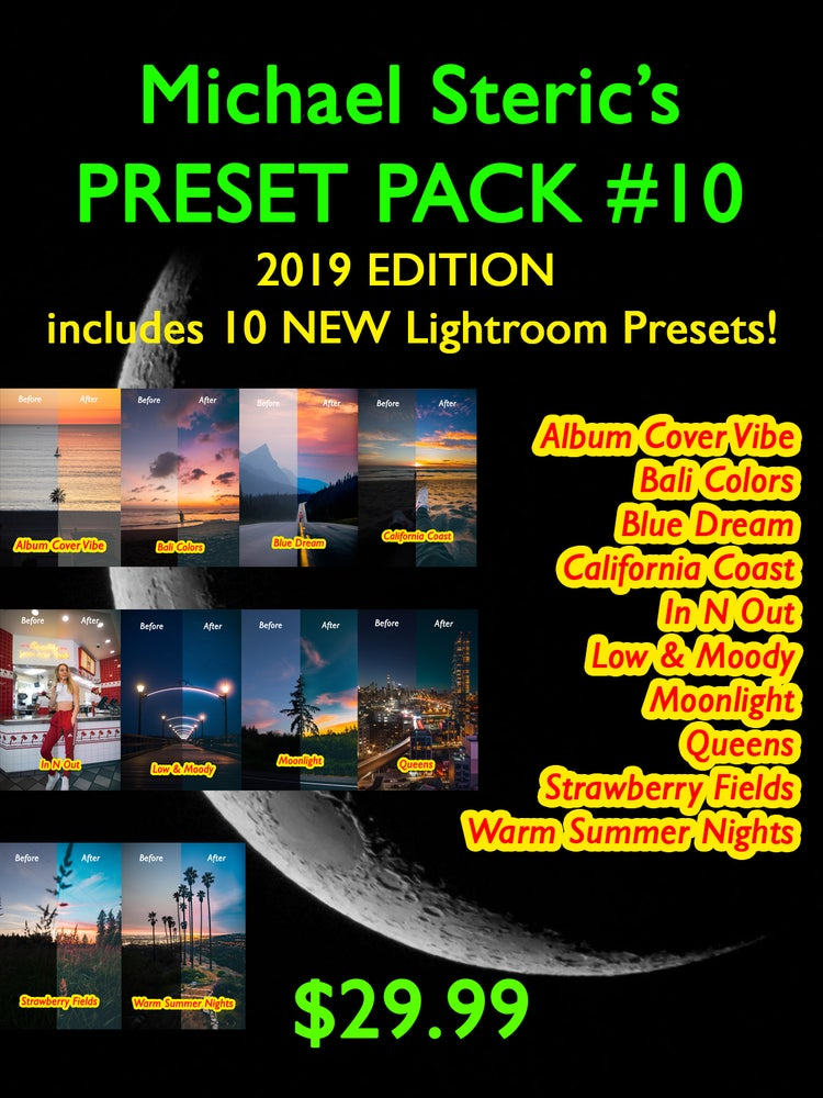 Image of MICHAEL STERIC PRESET PACK #10 - 10 PRESETS INCLUDED!