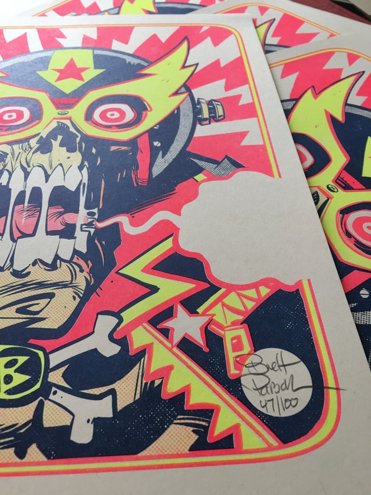 Image of ELECTRIC PSYCHO SKULL Risograph Print