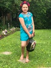 Blue Mexican Girl Dress