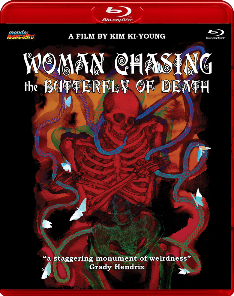 Image of WOMAN CHASING THE BUTTERFLY OF DEATH - Limted Red Case Edition