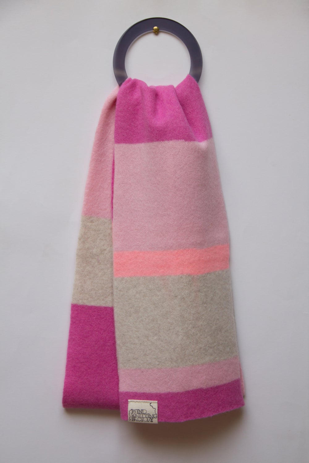 Image of Wind Knitted Scarf pinks/linen