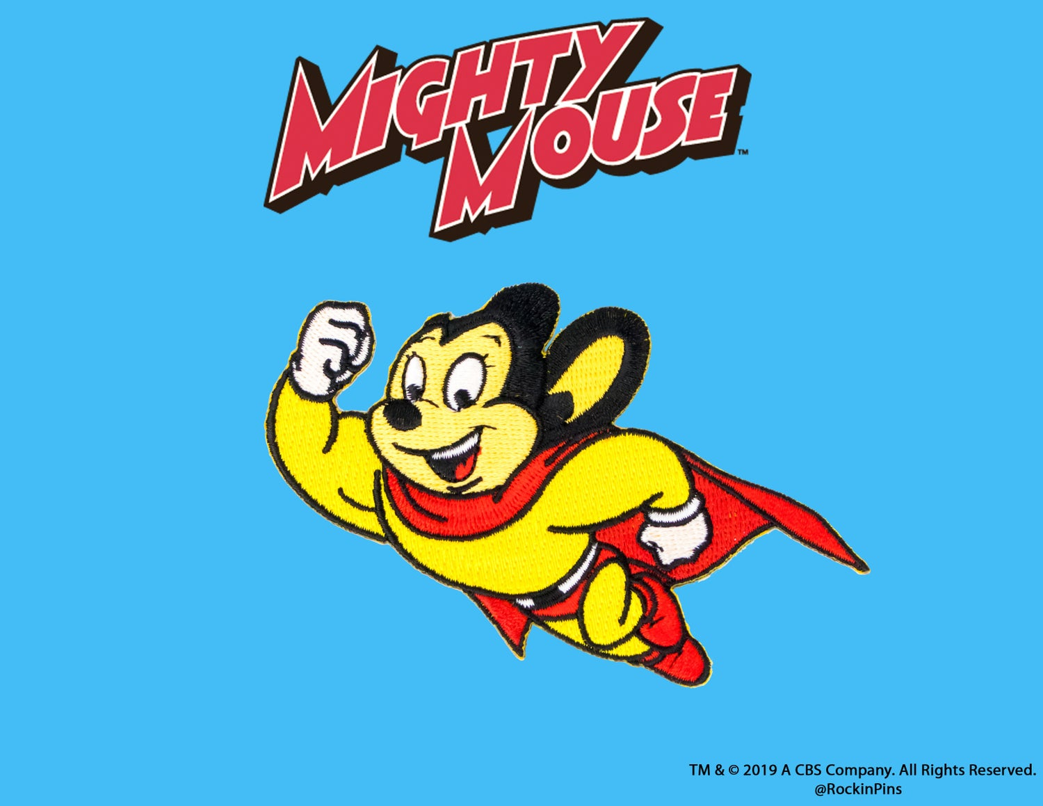 Image of Mighty Mouse Iron On Patch
