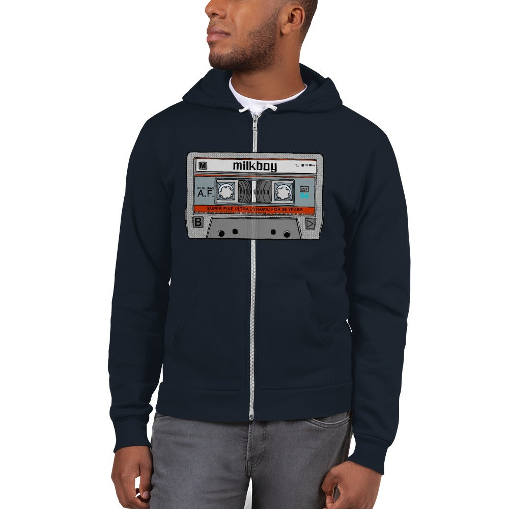Image of Maxell Tape Zip Up Hoodie