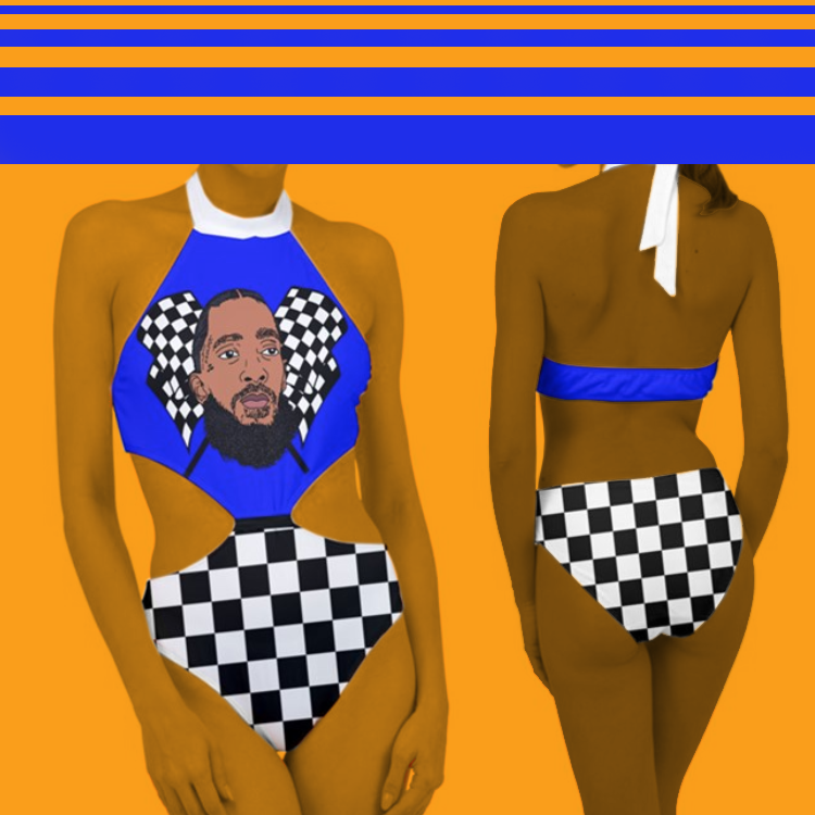 Image of The Marathon Continues (Cut-Out One Piece Swimsuit)