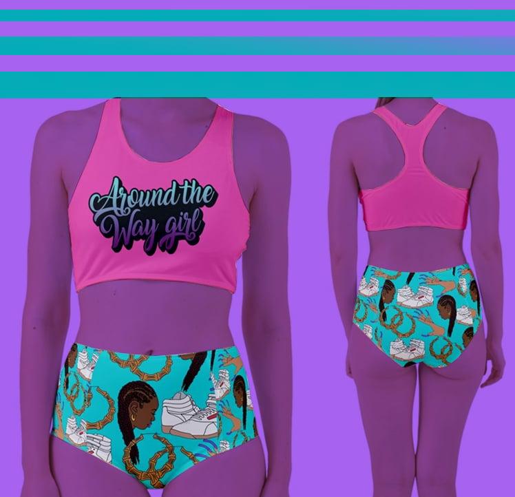 Image of Around The Way Girl (Racer Bikini Swimsuit)