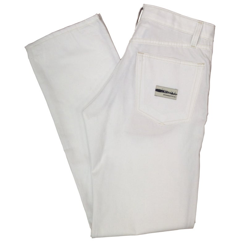 Image of DOMEstics. Made in USA White Mid Weight Pants