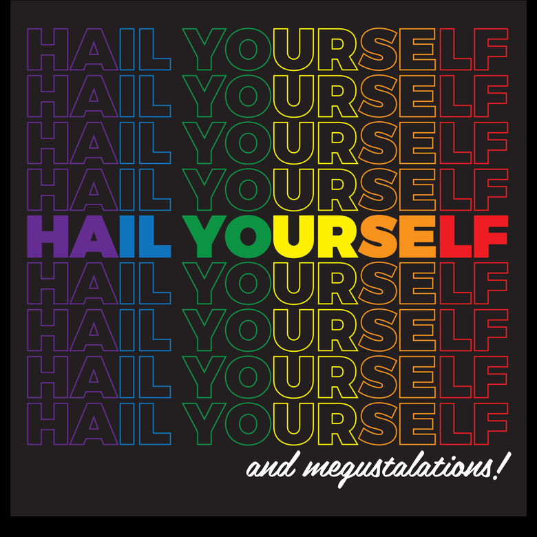 Image of Hail Yourself Rainbow Pride / Transgender Pride Flag Stickers