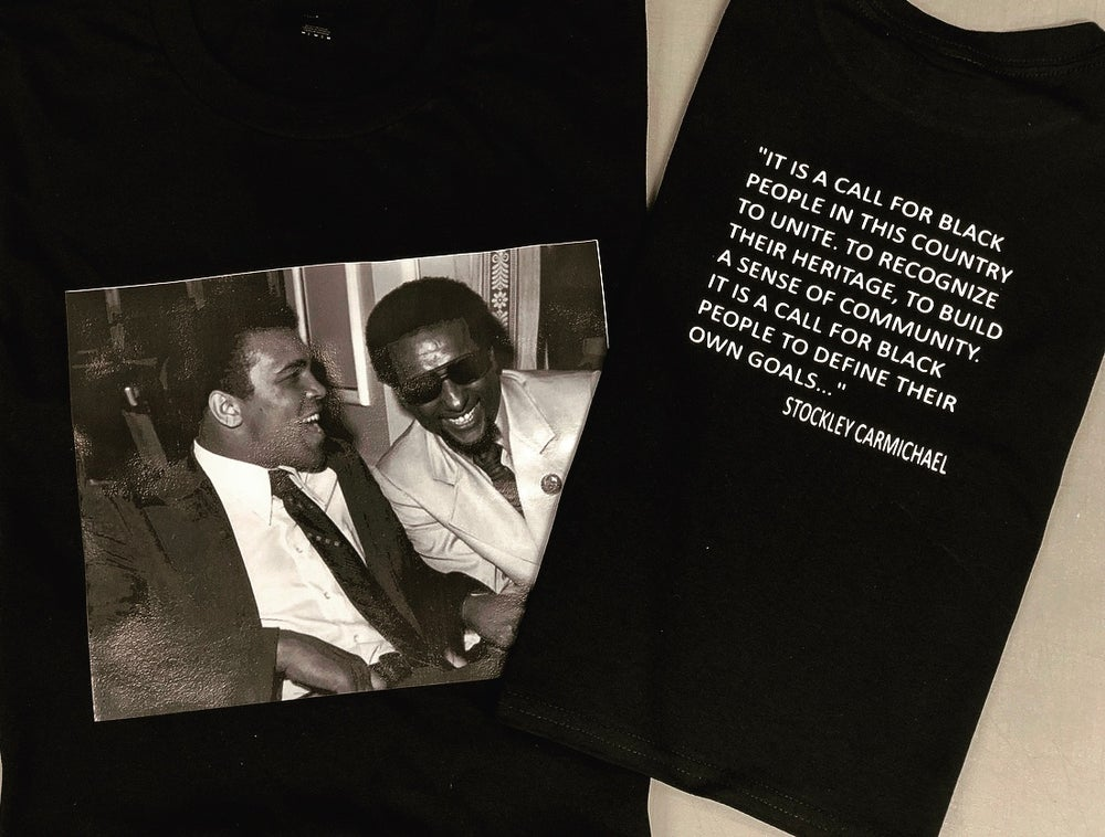 Image of ALI & TOURE (FORMERLY STOCKLEY CARMICHAEL) WITH TOURE QUOTE ON THE BACK