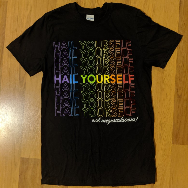 Image of Hail Yourself Rainbow / Trans Pride Flag Shirts