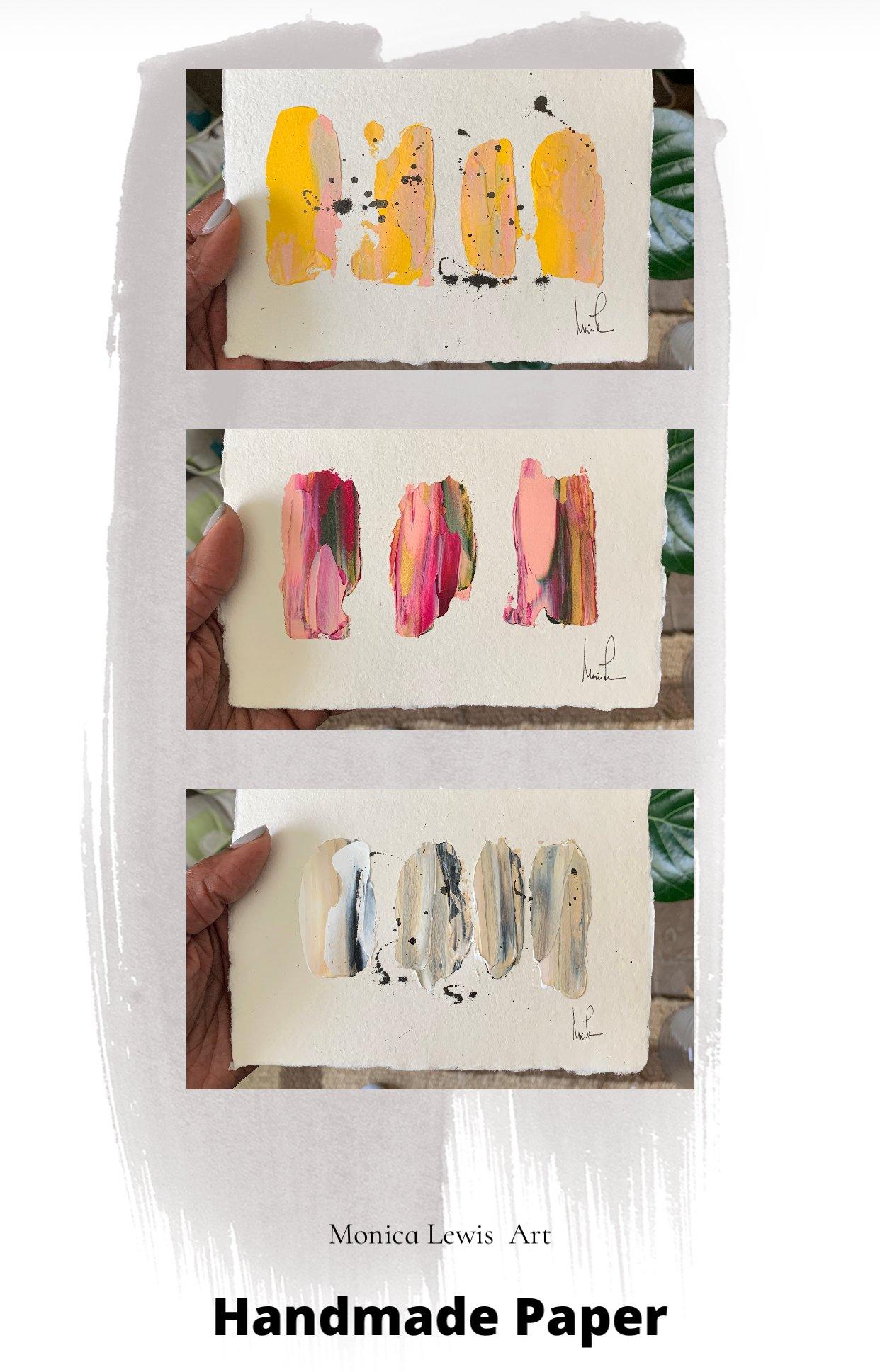 Image of 5x7 Handmade Paper Art (2a)
