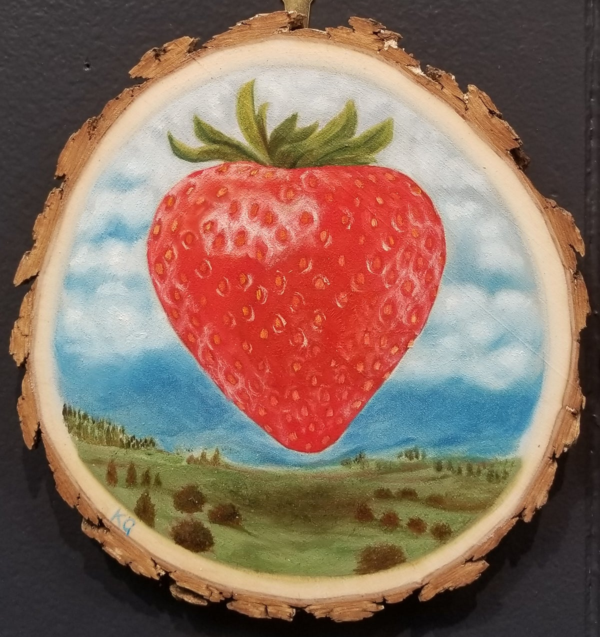 Image of ODE TO A STRAWBERRY by artist K. Grifo