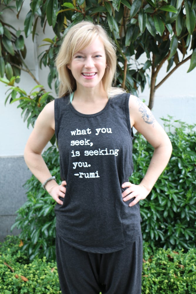 Image of Bamboo Tank Top Long : Rumi quote