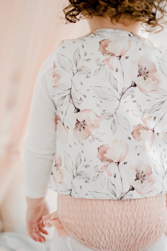 Image of Floral/velvet vest