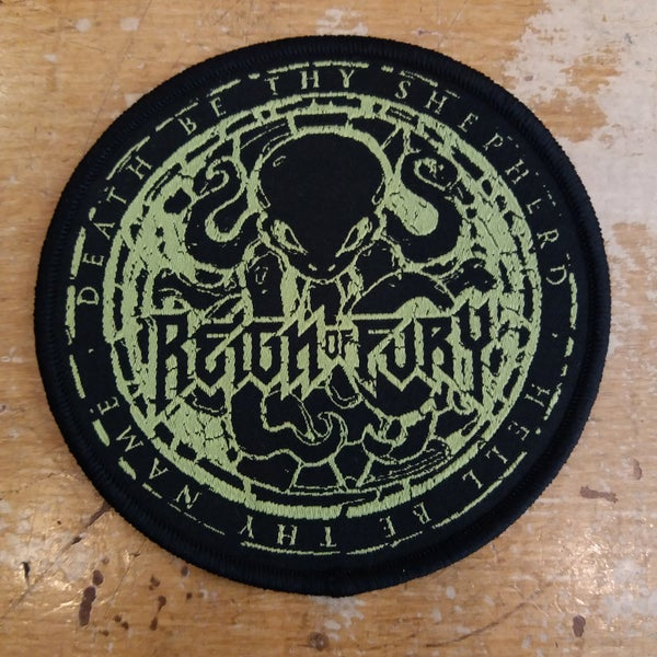 "Image of Death Be Thy Shepherd woven ""Squid"" patch"