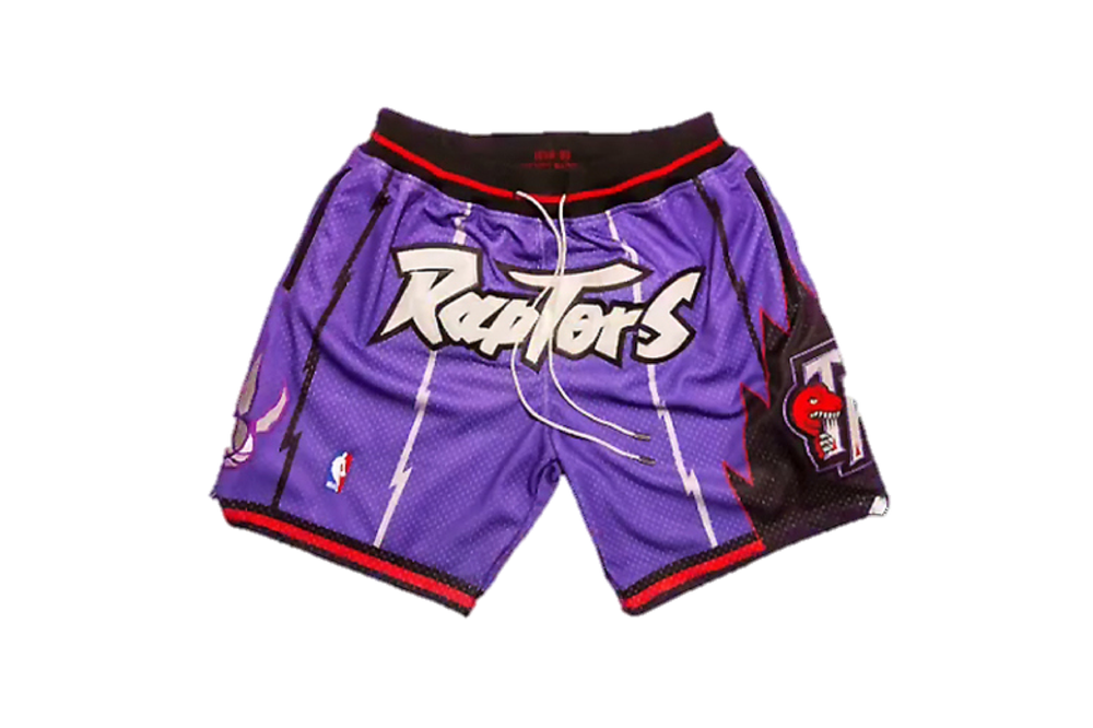 Image of Toronto Raptors Retro Shorts - Purple