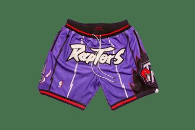 Image of Toronto Raptors Retro Shorts - Purple