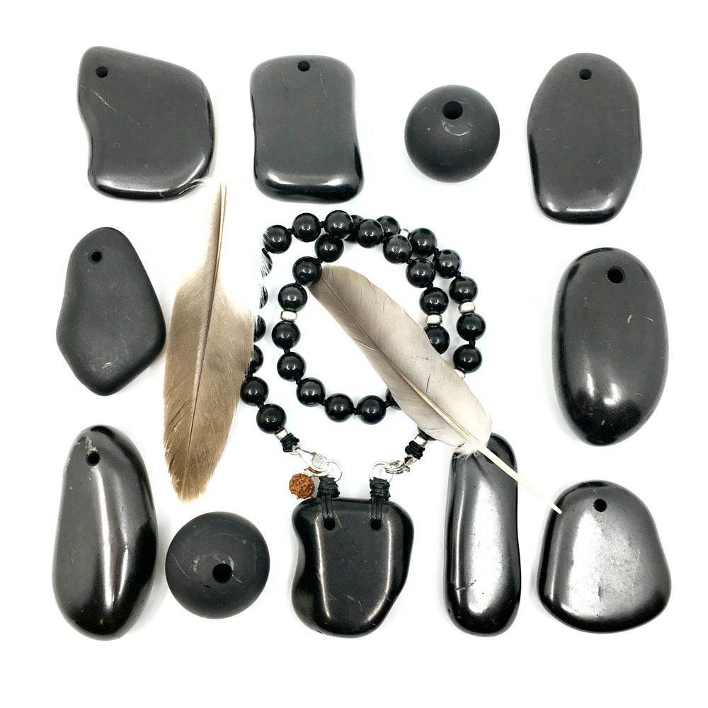 Image of All Shungite Choker33