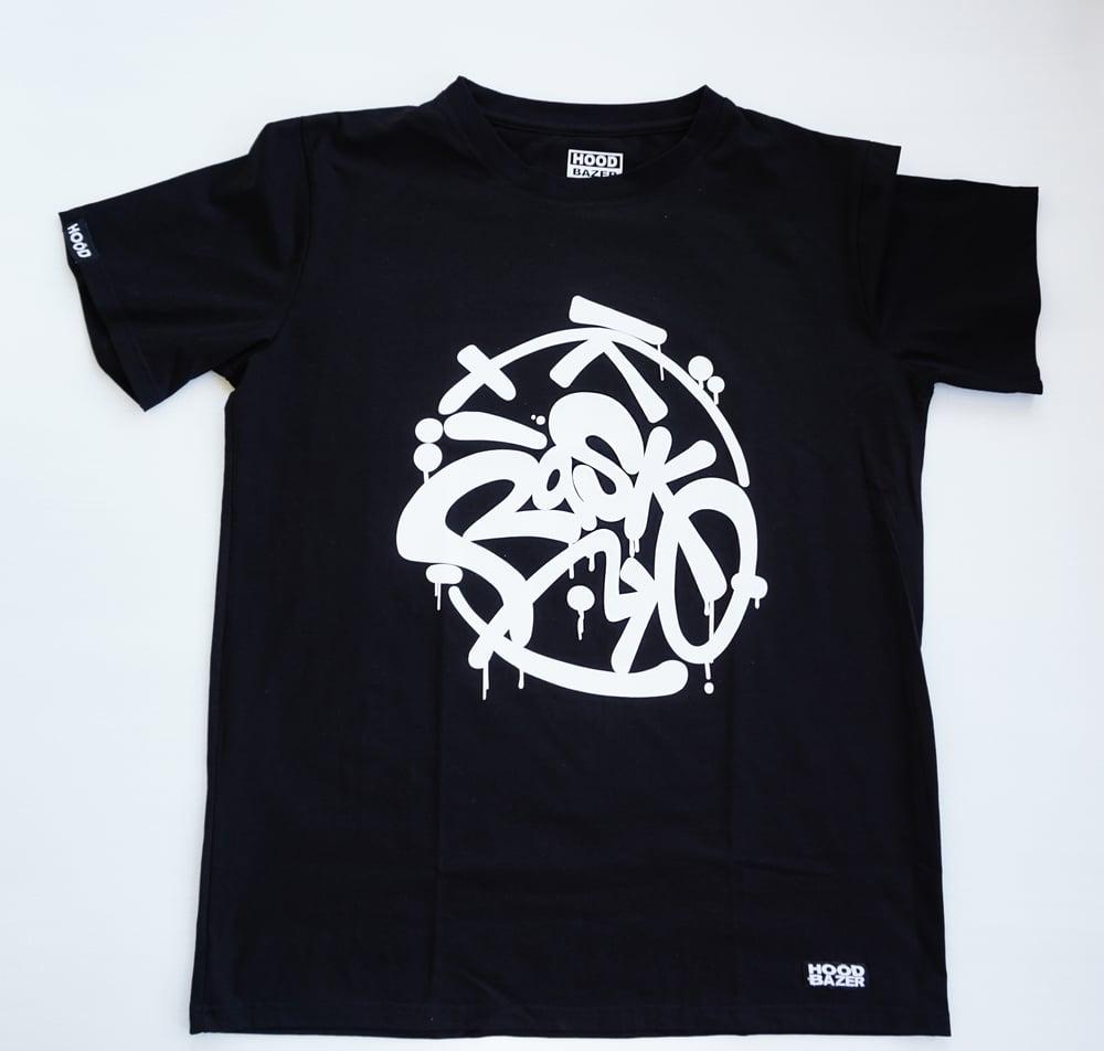 Image of RASKO Black T-shirt Doubleprinted